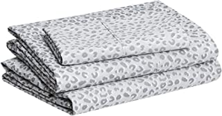 "Amazon Basics Lightweight Super Soft Easy Care Microfiber Bed Sheet Set with 14"" Deep Pockets -..."