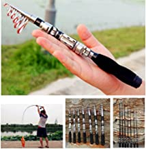 Dyna-Living Mini Fishing Rod Portable Compatible with...