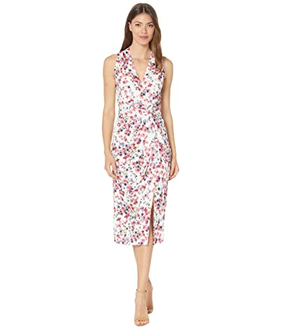 Adrianna Papell Floral Knit Draped Dress