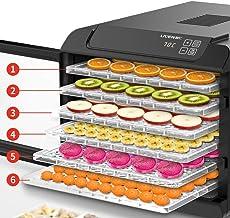 MissZZ Déshydrateur Alimentaire Complet en Acier Inoxydable 6 étage, avec minuterie, écran LCD, température réglable Déshy...