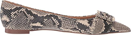 Ecru Multi Exotic Snake Print Leather
