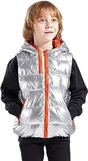 DAROSS 2020年最新版 こども用 ダウンベスト キッズ ベスト 子ども 軽量 防寒 防風 秋冬春用 KIDS男女兼用 フード付き可愛い 4色6サイズ展開