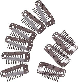 【ノーブランド品】スチール製 10歯 スナップコーム ウィッグクリップ ウイッグ用固定ピン 約20個