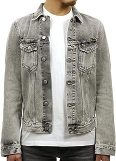[ヌーディージーンズ] Nudie Jeans 正規販売店 メンズ アウター デニムジャケット BILLY LIGHT GREY TRASHED DENIM JACKET DENIM B26 160617 5012 (コード:4136086216)