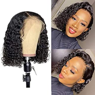 13x4 Human Hair Lace bob Wigs 150% Density Brazilian Remy Hair Can Be Dyed Human Hair Lace Front Wigs Pre-Cut Bleached Bra...
