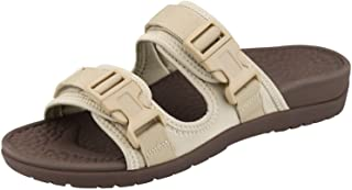 Everhealth Orthotic Sandals Women Buckle Slides with Arch Support for Plantar Fasciitis - Peep Toe Sandal Outdoor Slippers...