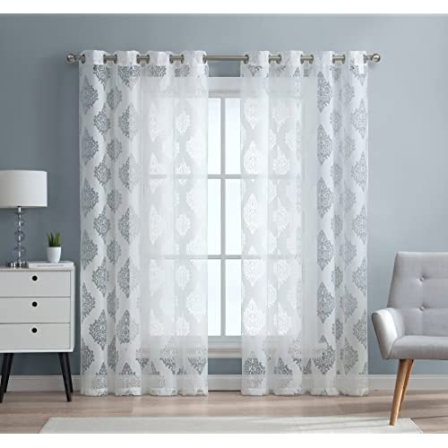 White Living Room Curtains: Amazon.com