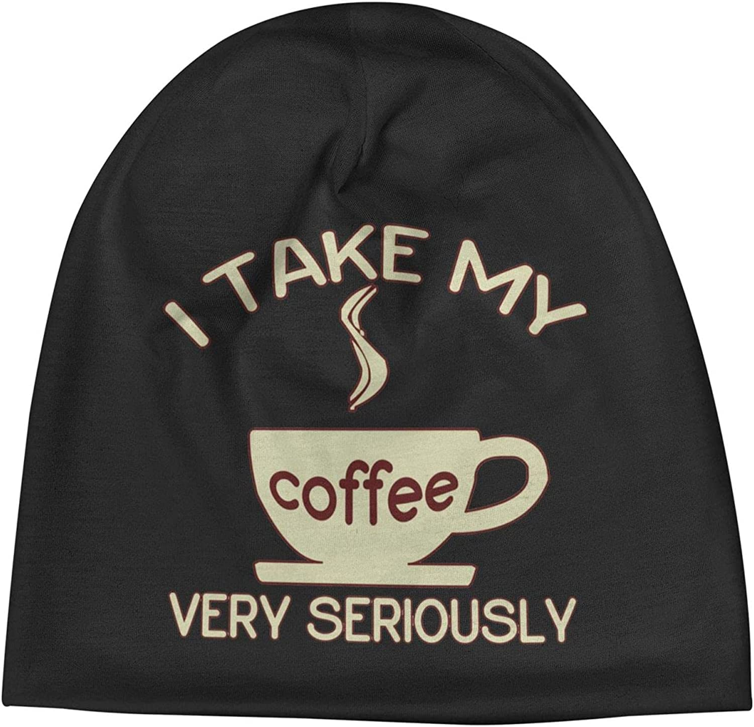 I Take My Coffee Very Seriously Unisex Beanie Ha Slogan Cap Warm Spasm price Outlet sale feature