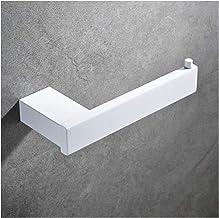 SUS 304 roestvrij staal White toiletrolhouder Toilet Roll Paper Rack Tissue Holder Badkamer Paper Legvlakken (Color : White)