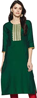 Amazon Brand - Myx Women's Polyester Straight Kurti