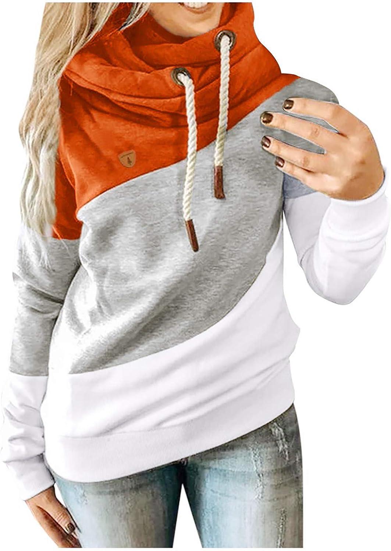 POLLYANNA KEONG Womens Tie Dye Sweatshirt,Hoodies Trendy Long Sleeve Drawstring Front Pockets Lightweight Casual Pullover