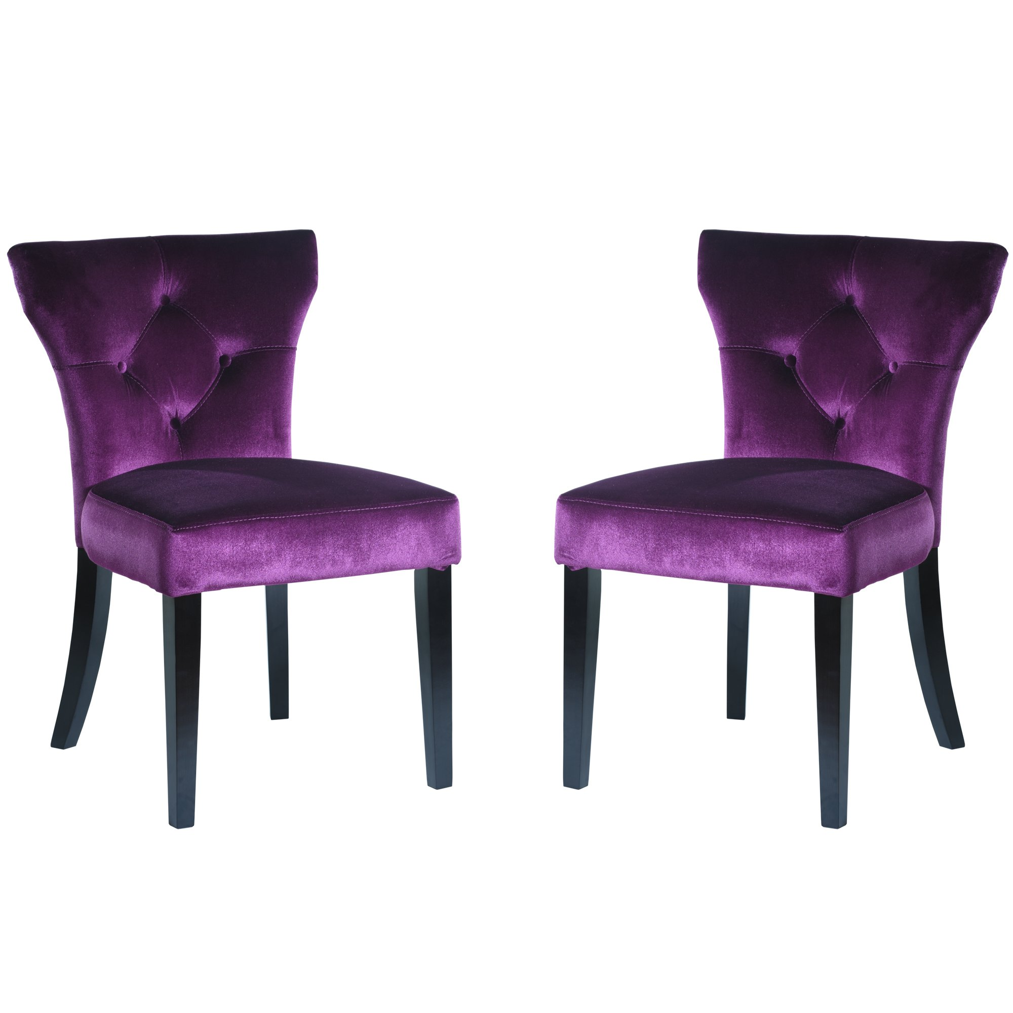 Purple Velvet Dining Chairs Chair Pads Amp Cushions
