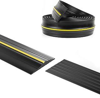 Panady Universal Garage Door Bottom Threshold Rubber Seal Strip 10Ft Black DIY Weather Stripping Replacement Weatherstripp...
