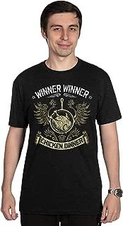 JINX PUBG Winner Chicken Dinner (Pioneer) Men's Gamer Tee Shirt, Black, Small