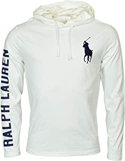 Polo RL Men's Lightweight Long Sleeve Embroidered Pony Graphic Jersey Hoodie