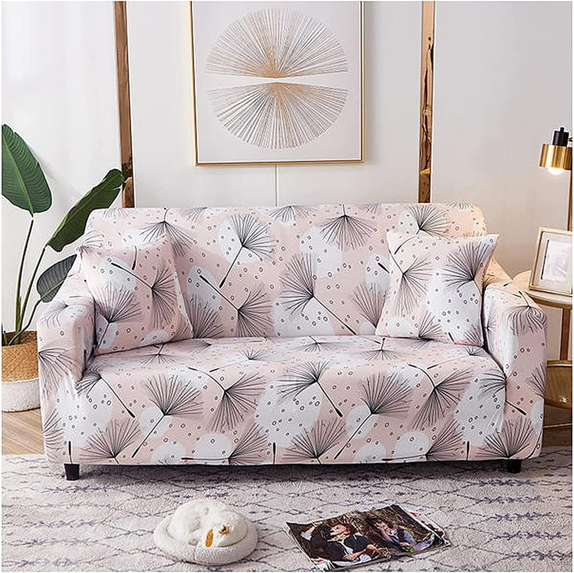 Sofa New Free Shipping Slipcover Stretch Elastic Fabric Pattern Chair Couch latest Settee