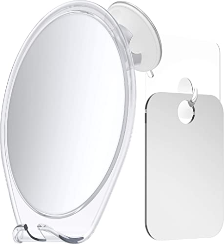 HoneyBull Shower Mirror Kit | Suction Cup & Hook Sticker (Small)