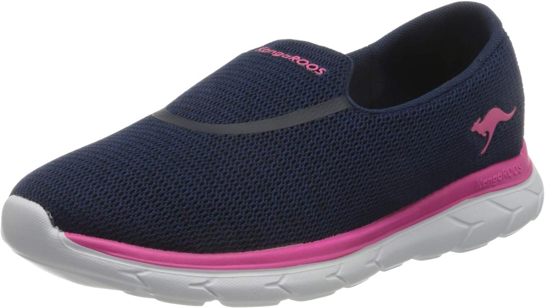 KangaROOS Women's KN-Slip Sneaker Max 88% OFF 4 years warranty Pink Dk Daisy Navy