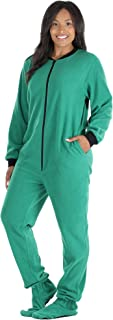 PajamaMania Women`s Sleepwear Fleece Footed Onesie Pajamas