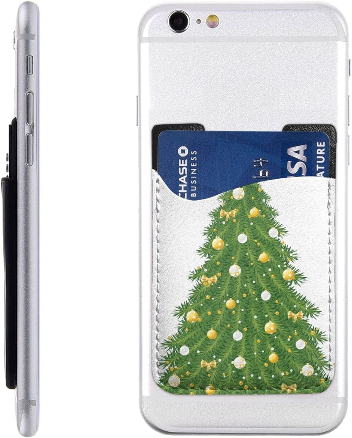 Xmas Green Tree Phone Card Holder Atlanta Mall Walle Cheap mail order shopping Cell Stick On