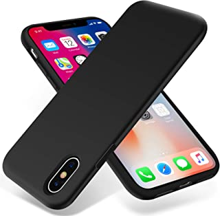 OTOFLY iPhone Xs Max Case,Ultra Slim Fit iPhone Case Liquid Silicone Gel Cover with Full Body Protection Anti-Scratch Shockproof Case Compatible with iPhone Xs Max, [Upgraded Version] (Black)