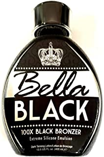 Bella Black 100X Bronzer Tanning Lotion – Premium Tanning Bed Lotion with Extreme Silicone Emulsion and Banana Fruit Extra...