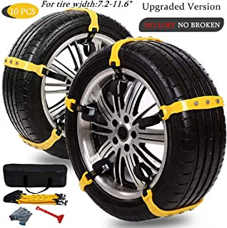 Anti Slip Snow Chains for SUV Car Adjustable Universal Emergency Thickening Anti Skid Tire Chain,Winter Driving Security Chains,Traction Mud Chains for Tire Width 7.2-11.6