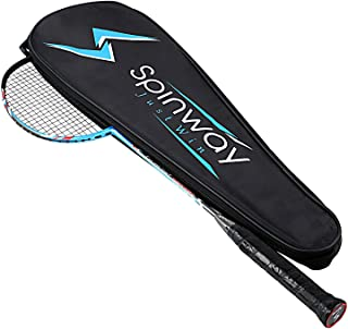 Spinway Professional Light Weight Graphite Badminton Racket Tornado Power M2 for High Speed Performance with Full Cover Bag
