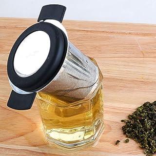 Inicio Infusor de Malla de Té Colador de Té Reutilizable Con Mango Acero Inoxidable Filtro de Especias de Hoja de Té Doble Suelto Colador de Copas para Tazas de Té Ollas