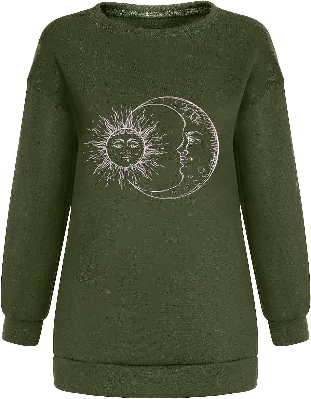 Oversized Sweatshirt for Women Vintage Graphic Fashion Casual Crewneck Long Sleeve Pullover Sweatshirt Tops Blouse Shirt