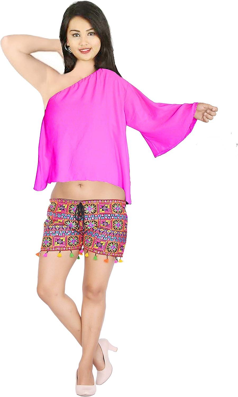Max 77% OFF Lakkar Haveli Women's One Shoulder low-pricing Top Short Wedding Wear Cotton