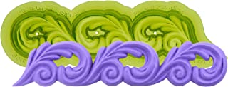 Marvelous Molds Scroll Silicone Cake Border Mold   Cake Decorating with Fondant Gum Paste Icing