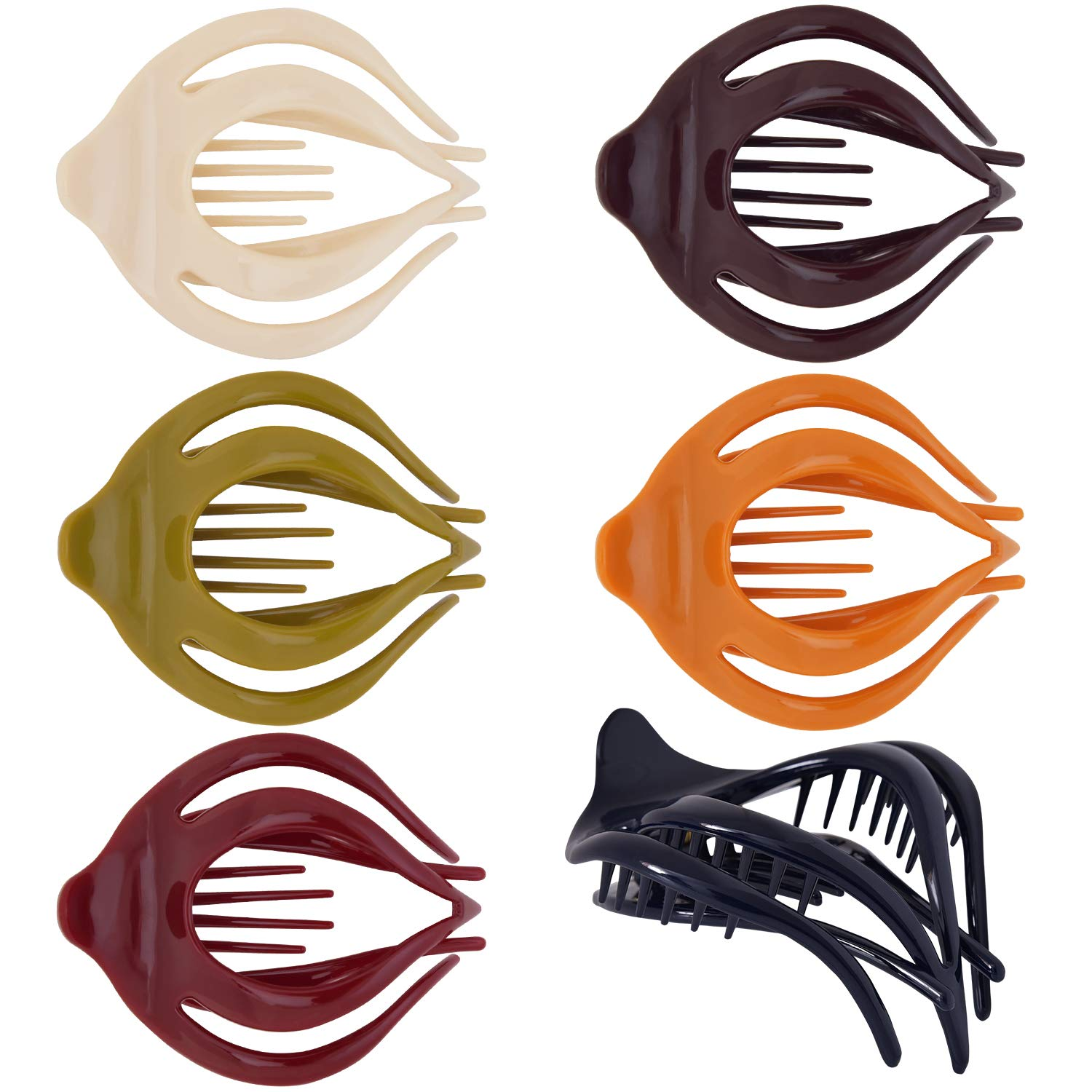 Product RC ROCHE Los Angeles Mall ORNAMENT 6 Pcs Womens Cute Clutcher Hollow Curvaceous B