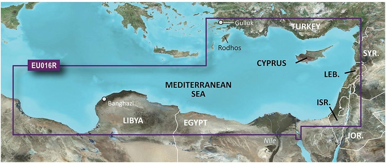 Garmin VEU016R  Mediterranean Southeast  SD Card