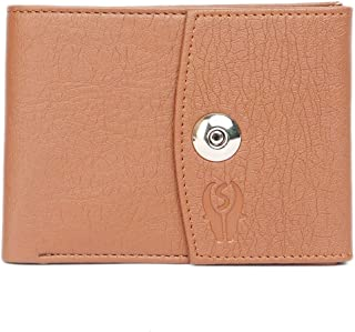 Samtroh Artificial/PU Leather Clutch Wallet for Women's (Tan)