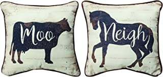 MW Farmhouse Cow And Horse Jp12 Dtf Pillow 12X12