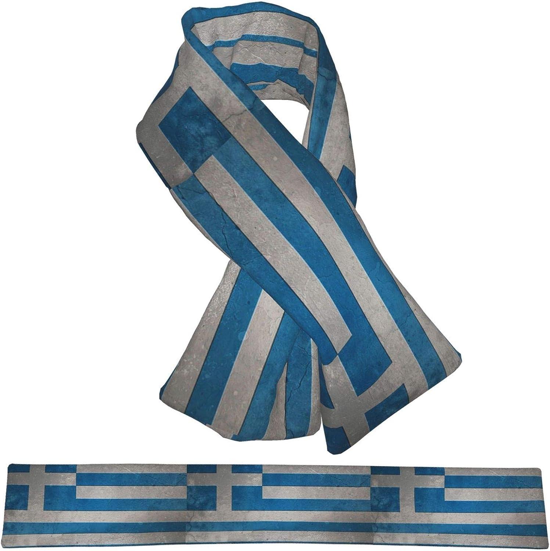 Winter Scarfs Vintage Greece Flag Scarves Wraps Neck Warmer Flannel Winter Cross Tie Scarves