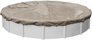 Pool Mate 6028-4-PM 20-Year Premium Winter Round Above-Ground Pool Cover, 28-ft, Sand