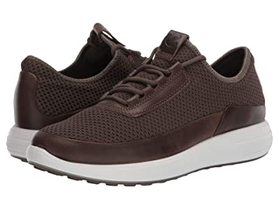 ECCO Soft 7 Runner Summer Sneaker (Dark Clay/Dark Clay) Men
