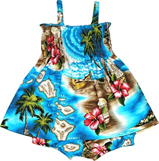 RJC Baby Girl's Tropical Island Escape Smocked Hawaiian 2 Piece Dress Set