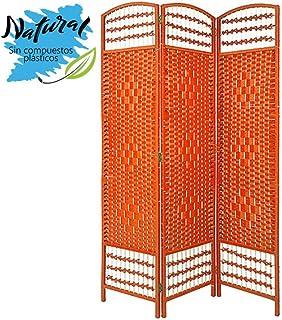 Biombo Separador de ambientes. Economico. Naranja de Junco Natural para decoración 170 x 120 cm - Hogar y más