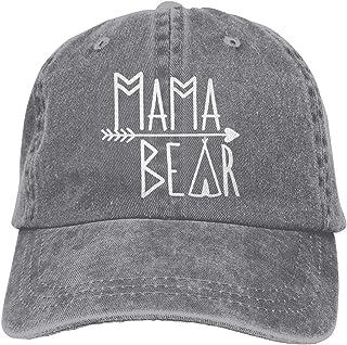 7218c1122ab4b4 Waldeal Mama Bear Denim Vintage Baseball Cap Adjustable Trucker Hat for Mom