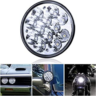 """H5001 Led Headlight Par46 LED Light for Unity Spotlight, 5.75"""" 5-3/4"""" Round Led Pods for Truck Offroad Led Work Light Replacement Sealed Beam Projector 36W Chrome(1 Pcs)"""
