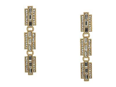 J.Crew Bacchio Station Drop Earrings (Crystal) Earring