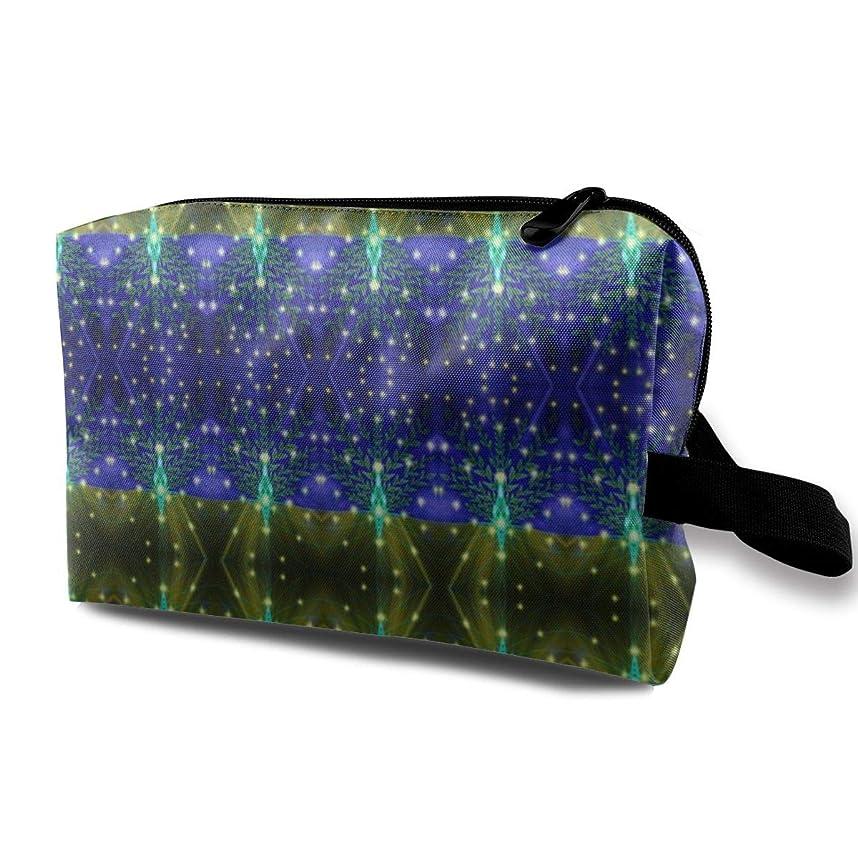 どれか口回る化粧ポーチ コンパクトサイズ,Infinite Possibility_262、オックスフォードの布の多彩な袋の小型旅行
