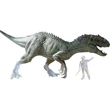 Nanmu Studio 本心楠改 限定版 1/35 半透明の レックス インドラプター ジュラシック 恐竜 リアル フィギュア PVC モデル おもちゃ プレミアムエディション 45cm級 人形付き オリジナル 塗装済