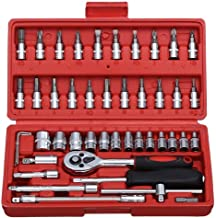 FAB Innovations 46 in 1 Pcs Tool Kit & Screwdriver and Socket Set Multi Purpose Combination Tool Case Precision Socket Set (Color May Vary)
