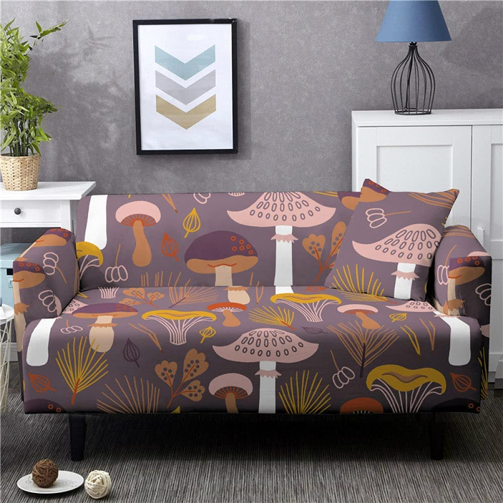 forros para 2021 Muebles Sofas Couch Mail order cheap Cartoon Smo Print Cover Mushroom