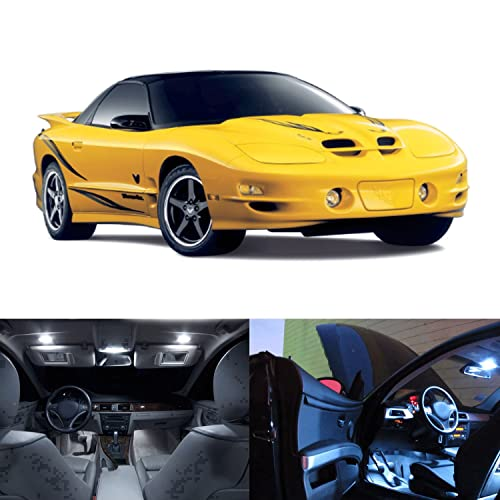 LED White Lights Interior Kit For Pontiac Firebird Trans Am 1998-2002 (12 pcs
