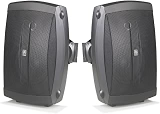 Yamaha All Weather Indoor & Outdoor Wall Mountable Natural Sound 130 watt 2-way Acoustic Suspension Speakers (Set of 2) Black with 6.5